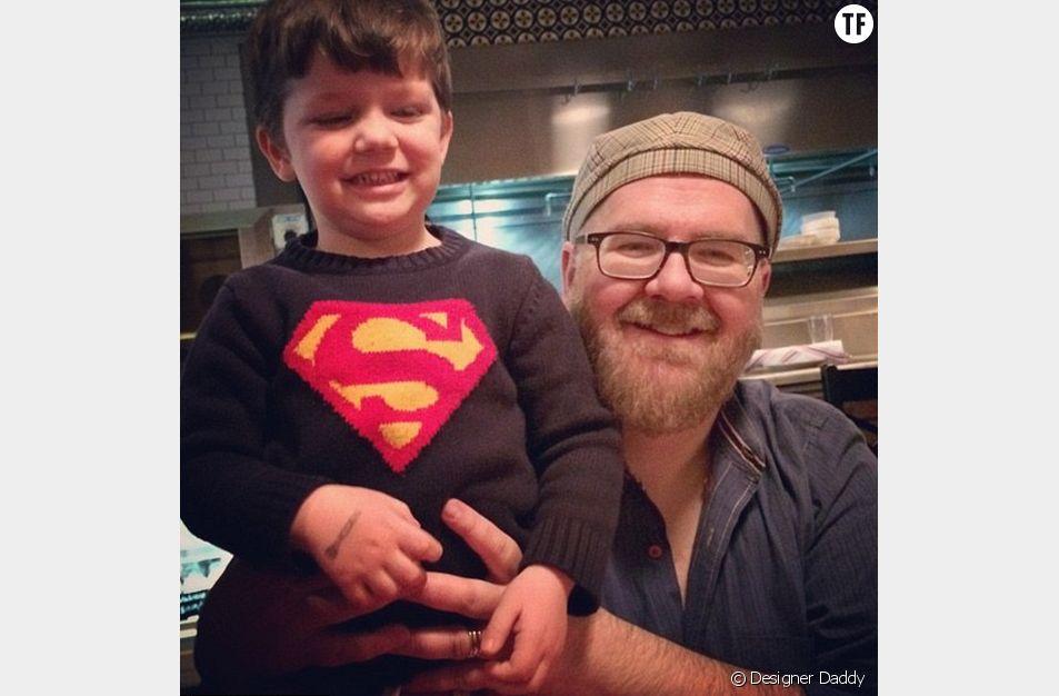 """Le super """"daddy"""" Brent Almond et son fils Jon"""