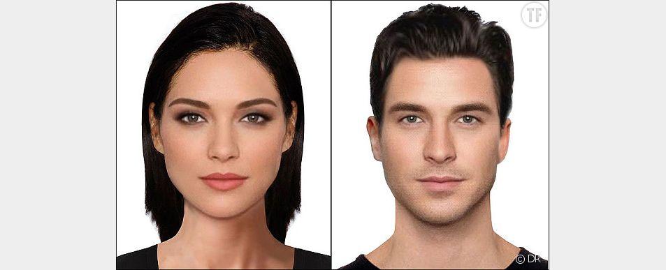 Les visages de la femme et de l'homme parfait, selon les Britanniques