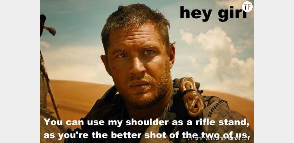 """""""Tu peux utiliser mon épaule pour soutenir ton fusil, puisque tu es le meilleur tireur de nous deux."""""""