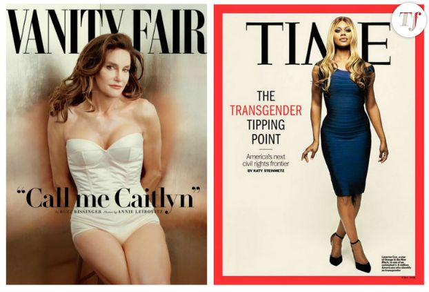 Caitlyn Jenner pour Vanity Fair et Laverne Cox pour le Time