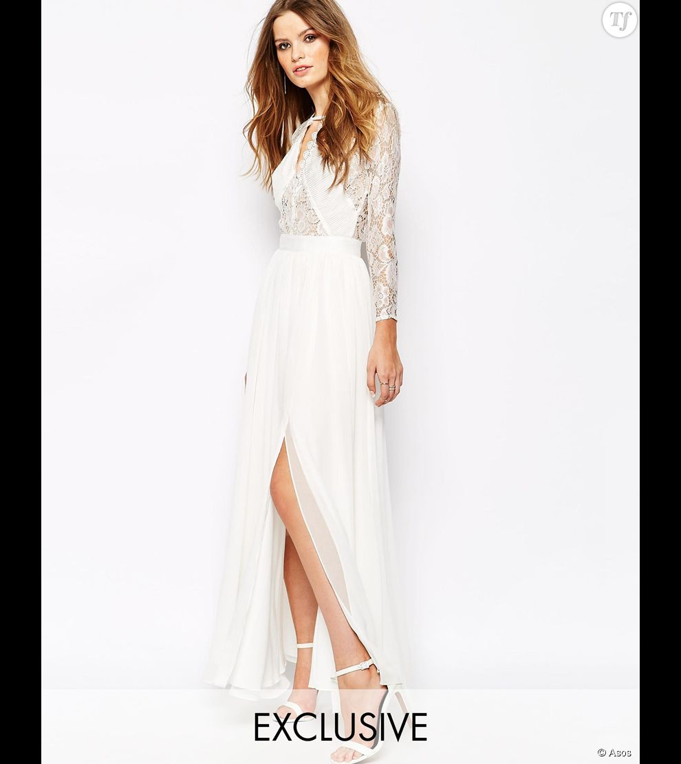 Robe cocktail longue asos