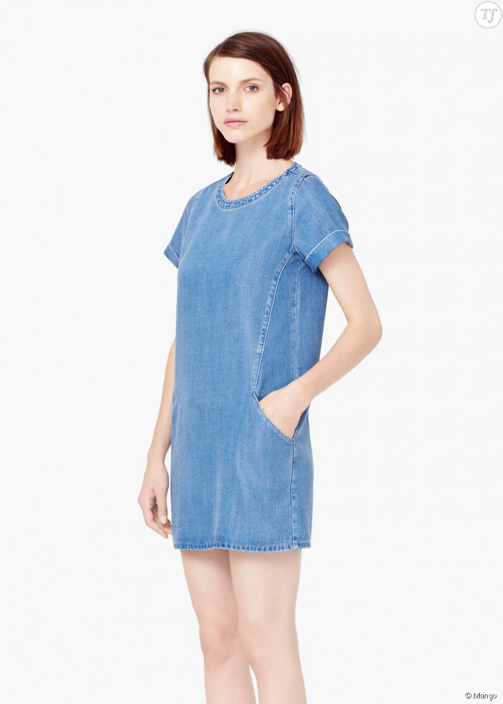 Robe en jean mango for Robe jean mango