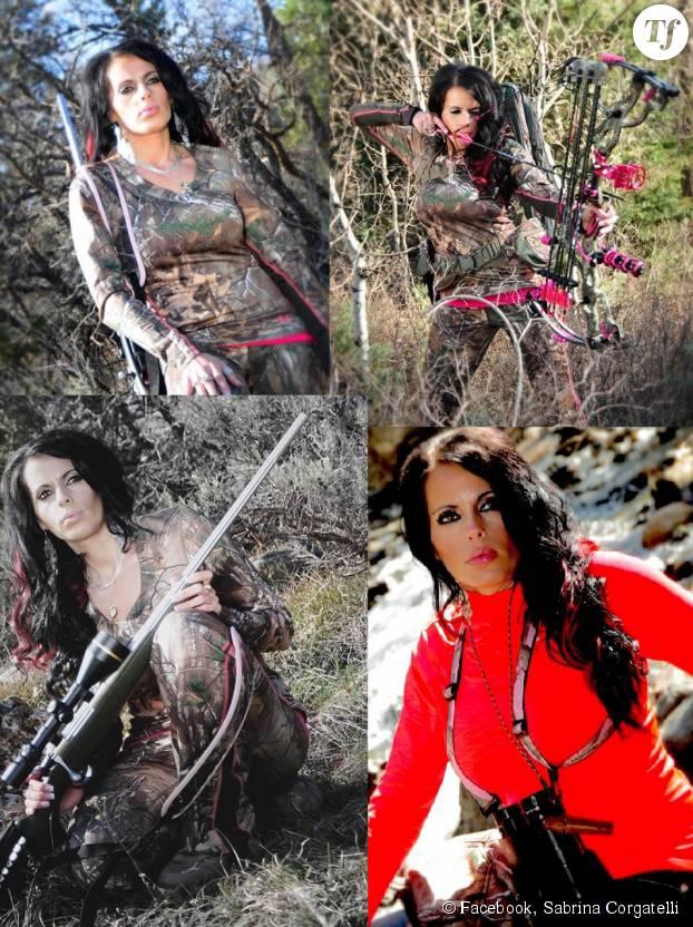 Sabrina Corgatelli se soucis surtout de son apparence lorsqu'elle part chasser.