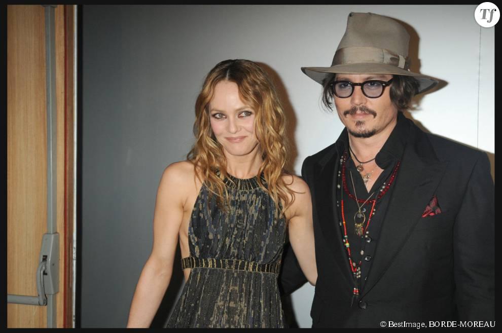 Vanessa Paradis et son ex-mari Johnny Depp en 2010