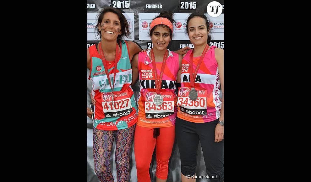 Kiran Gandhi a osé courir le marathon de Londres sans protection périodique, alors qu'elle avait ses règles.