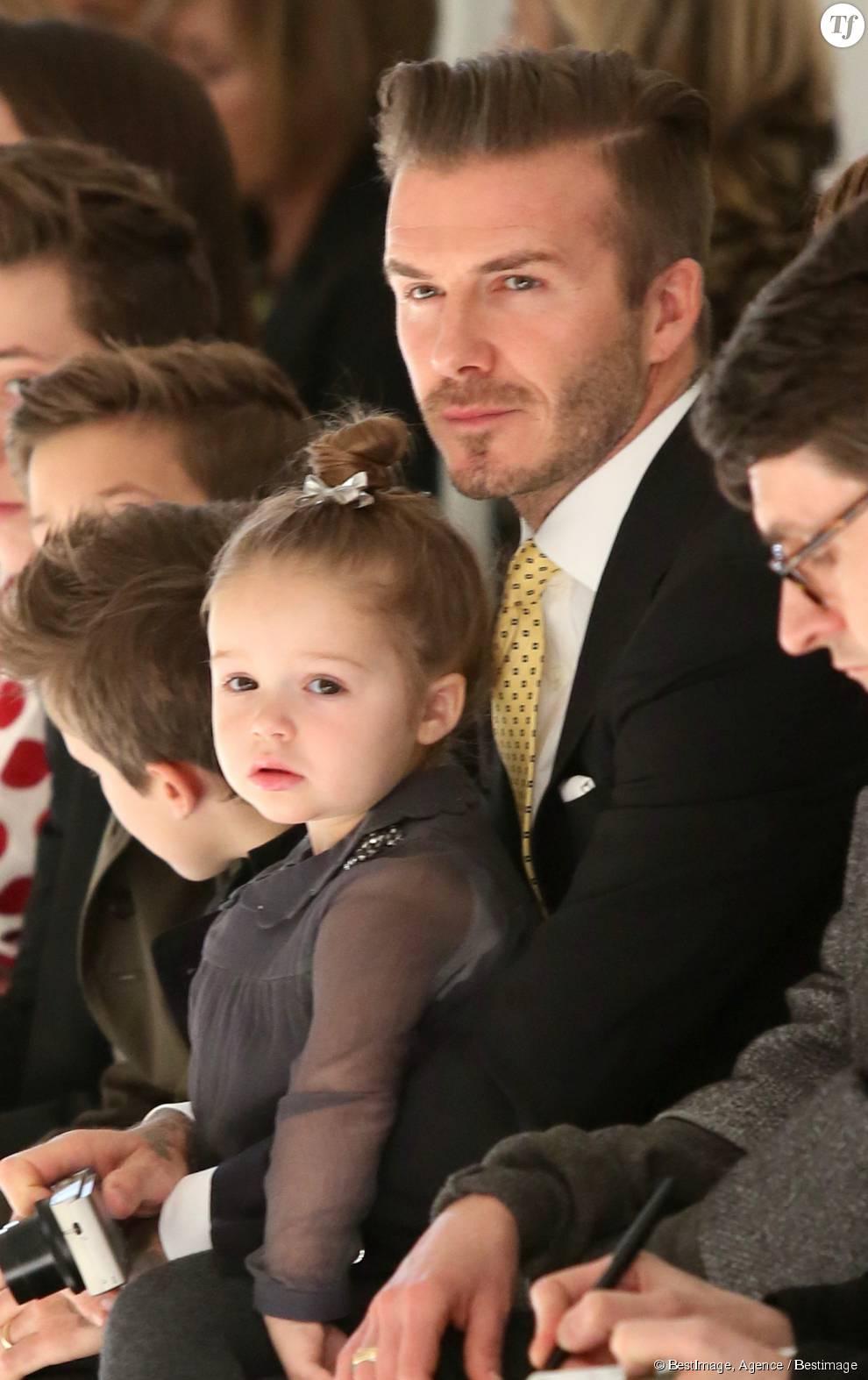 David Beckham et sa petite Harper.