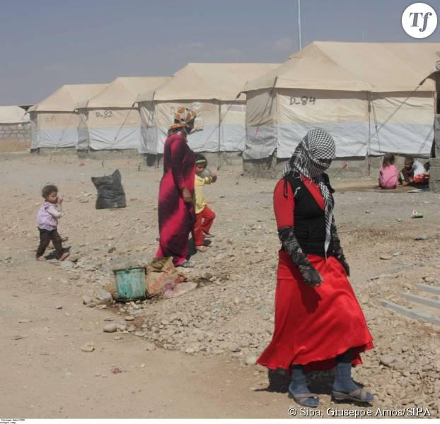 Des réfugiés yézidis