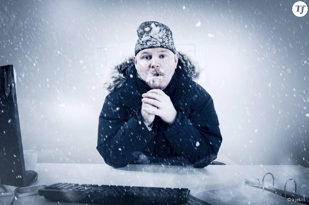 11 signes qu'il fait trop froid au bureau.