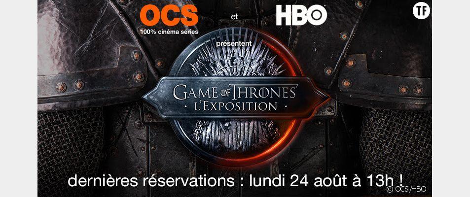 """L'exposition dédiée à la série """"Game of Thrones"""" se tiendra au Carrousel du Louvre à Paris, du 8 au 12 septembre 2015. Découvrez comment obtenir des places !"""
