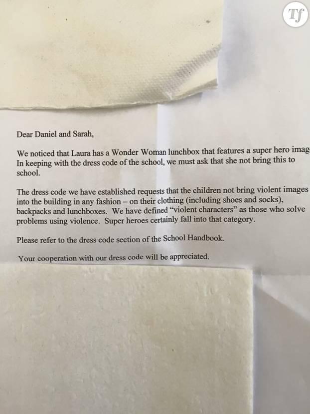 La lettre en version originale