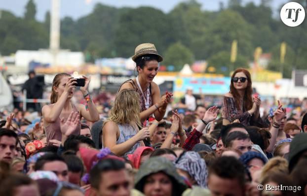 Fans pendant le concert d'Ellie Goulding au V Festival le 22 août 2015