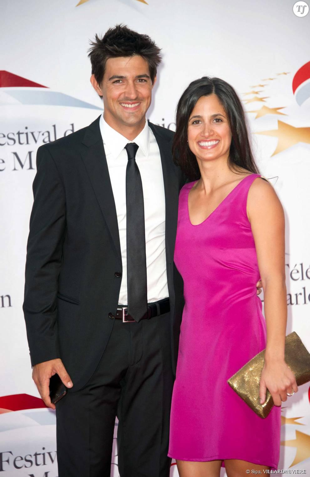 Jean-Pascal Lacoste et son épouse Jenifer en 2011