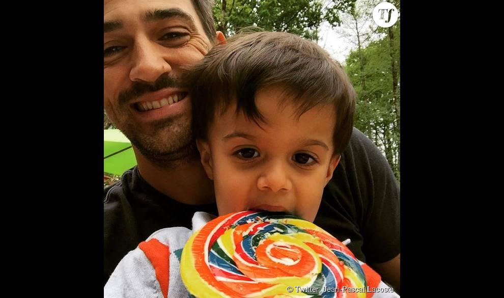 Jean-Pascal Lacoste et son fils, Maverick, 3 ans