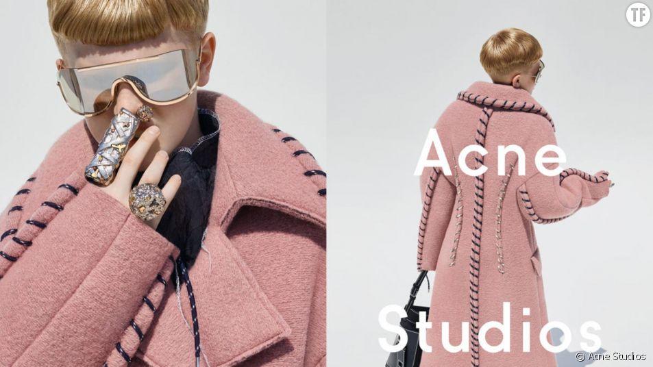 Frasse Johansson, 12 ans, est devenu l'égérie androgyne de la marque Acne Studios.