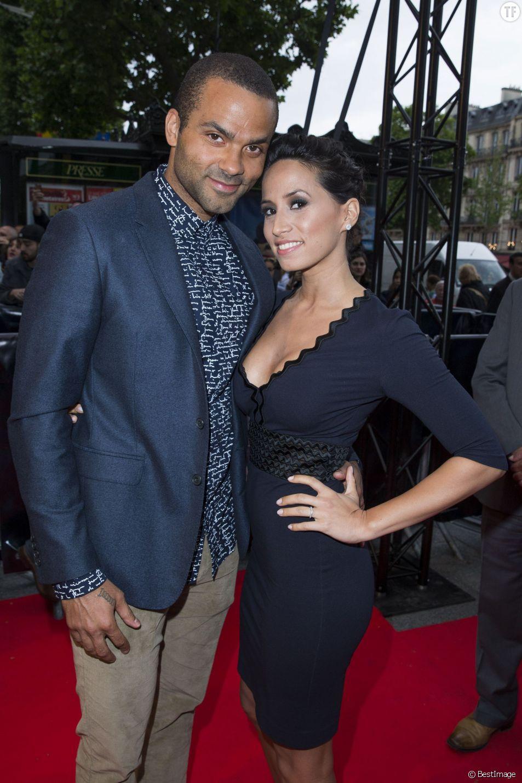 Tony Parker et son épouse Axelle