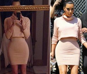 Kim Kardashian sur Instagram vs la réalité