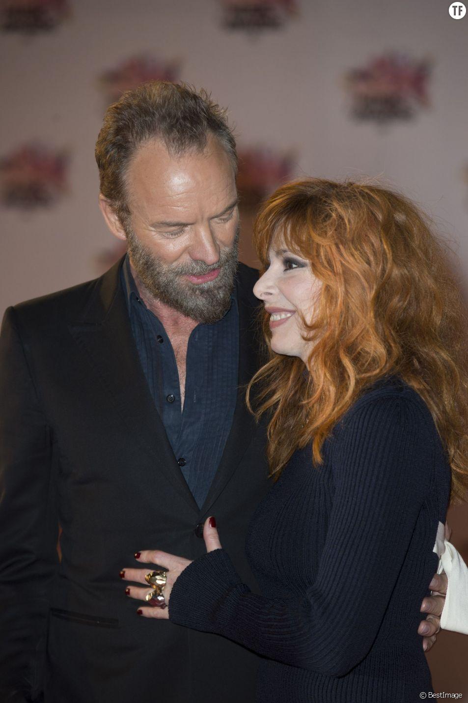Sting et Mylène Farmer - Arrivées à la 17ème cérémonie des NRJ Music Awards 2015 au Palais des Festivals à Cannes, le 7 novembre 2015.