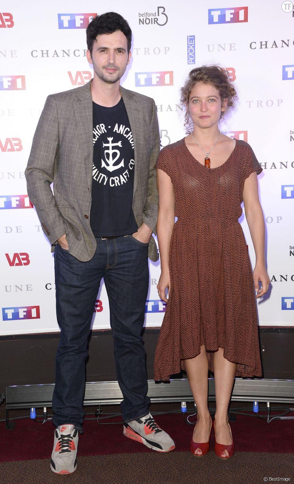 """Raphaël Ferret et Sophie de Furst - Avant-première du film """"Une chance de trop"""" au cinéma Gaumont Marignan à Paris, le 24 juin 2015."""