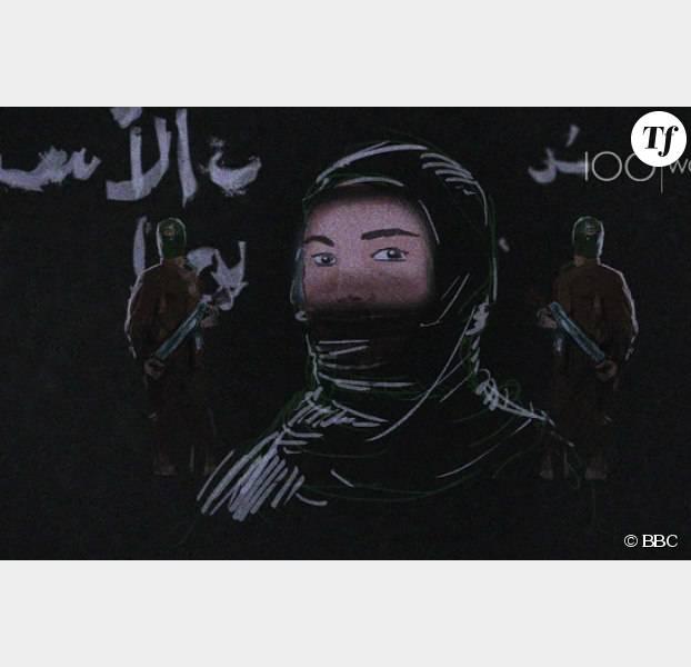 Nour explique le quotidien d'une femme à Raqqa, le fief de Daech
