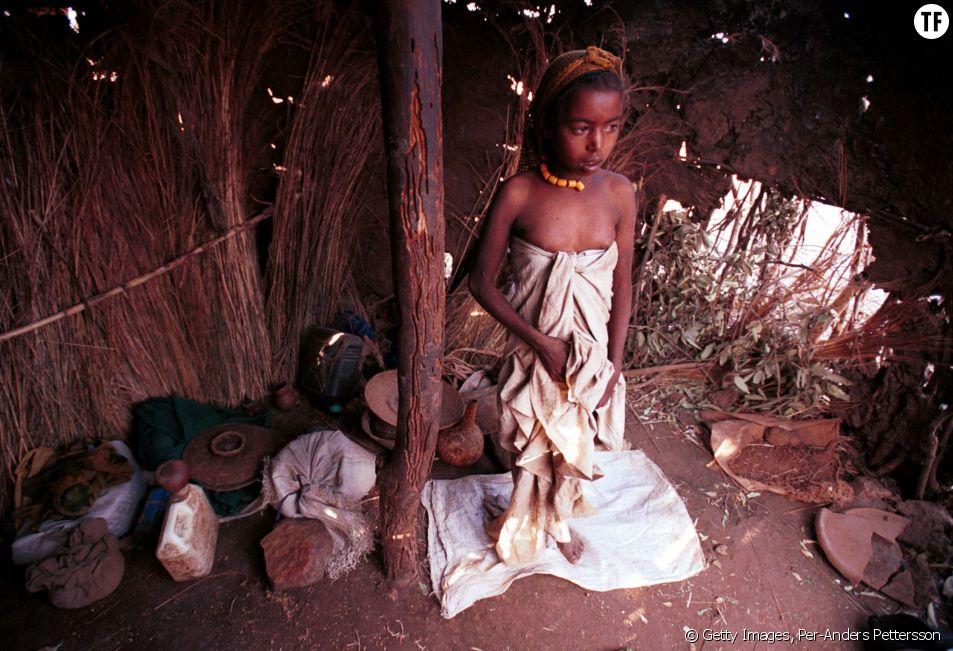 Une petite fille en Ethiopie