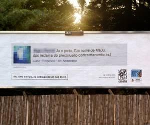 Des insultes racistes placardées sur des panneaux d'affichage pour dénoncer leurs auteurs