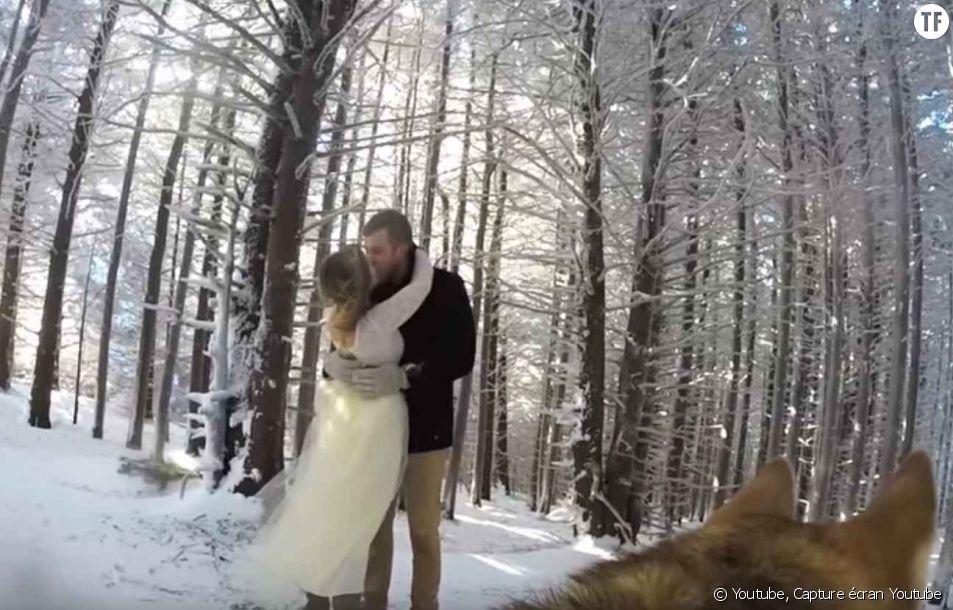 Le mariage de Marshall et Addie filmé par leur chien à l'aide d'une Gopro