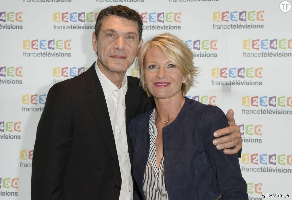 Sophie Davant et Marc Lavoine - Téléthon 2015