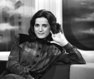 """Linda de Suza sur le plateau de l'émission """"Midi"""", première émission de Danièle Gilbert en octobre 1979"""