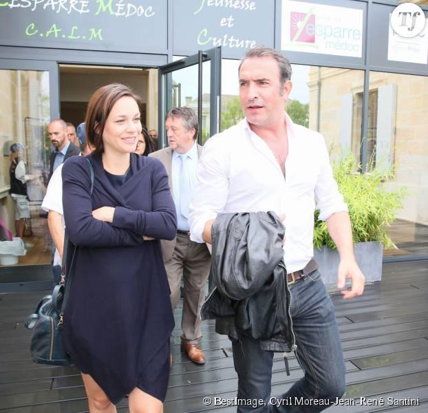 Jean dujardin et nathalie p chalat ils sont parents d for Jean dujardin et sa fille