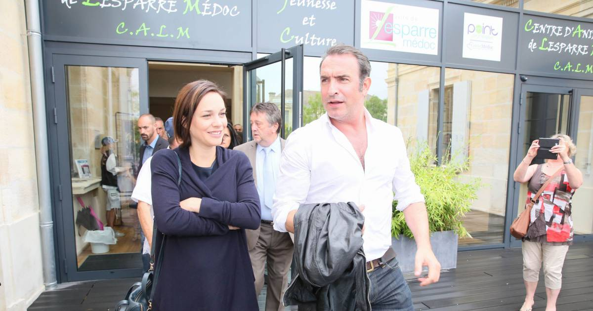 Jean dujardin et nathalie p chalat ils sont parents d for Jean dujardin parents