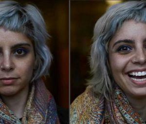 Elle capture l'expression des gens au moment où on leur dit qu'ils sont beaux