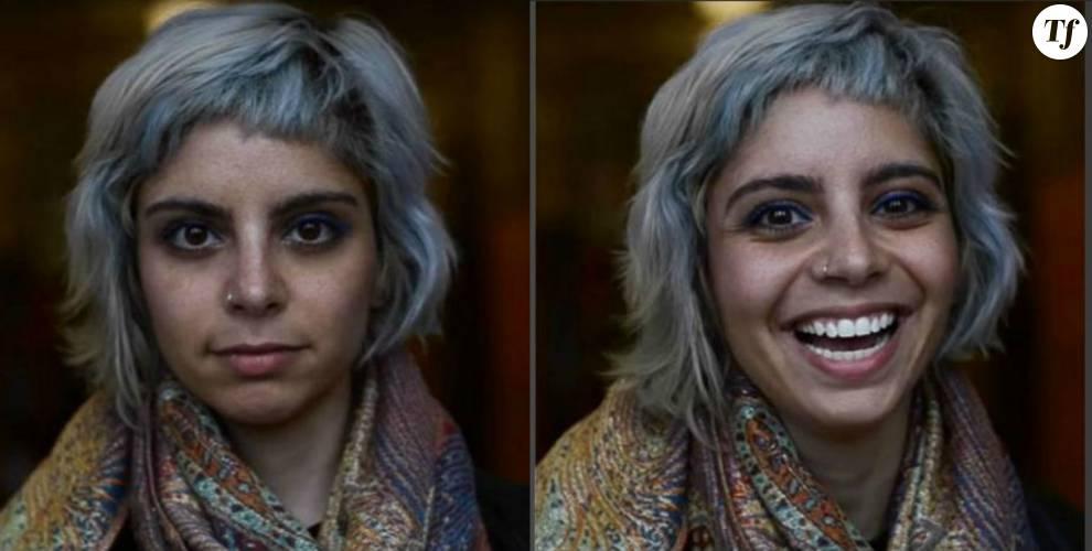 Elle capture le visage d'inconnus quand on leur dit qu'ils sont beaux