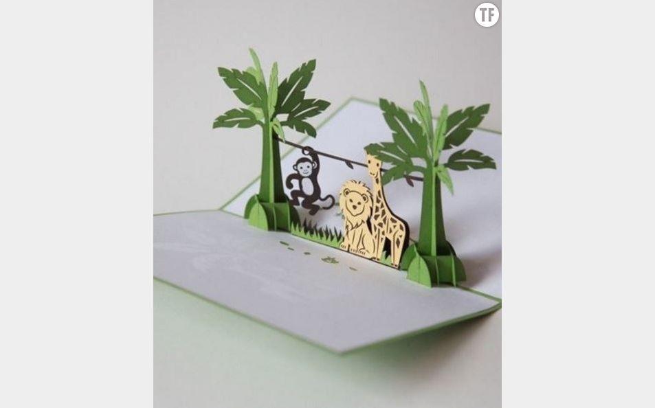 Un livre décoré de kirigami