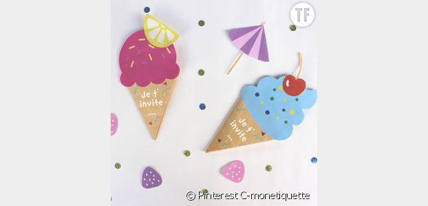 De jolies cartes d'anniversaire glaces