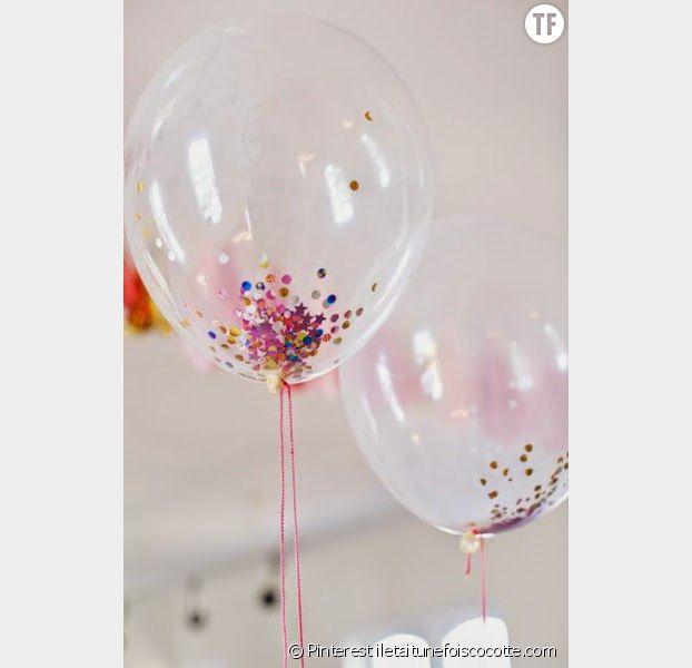 Des ballons confettis