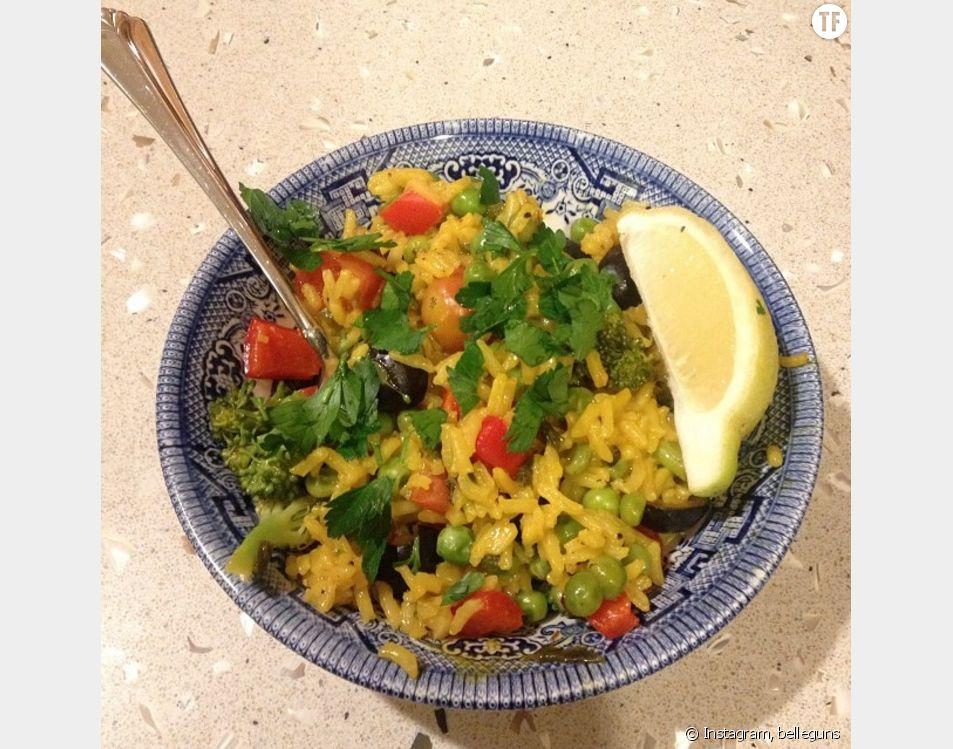 La recette végétarienne de la paëlla de légumes.