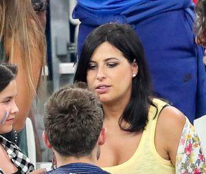 Laetitia Bernardini, la compagne de Yohan Cabaye, enceinte lors du match de l'Euro 2016 Allemagne-France au stade Vélodrome à Marseille, France, le 7 juillet 2016