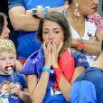 Camille Sold, la compagne de Morgan Schneiderlin, après le match de la finale de l'Euro 2016 Portugal-France au Stade de France à Saint-Denis, France, le 10 juin 2016