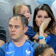 Marine Lloris, la Femme de Hugo Loris, et sa fille Anna-Rose après le match de la finale de l'Euro 2016 Portugal-France au Stade de France à Saint-Denis, France, le 10 juin 2016