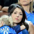 Jenifer Giroud (Femme de Olivier Giroud) et sa fille Jade après le match de la finale de l'Euro 2016 Portugal-France au Stade de France à Saint-Denis, France, le 10 juin 2016