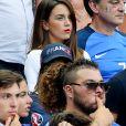 Erika Choperena, la compagne de Antoine Griezmann, lors du match de la finale de l'Euro 2016 Portugal-France au Stade de France à Saint-Denis, France, le 10 juin 2016