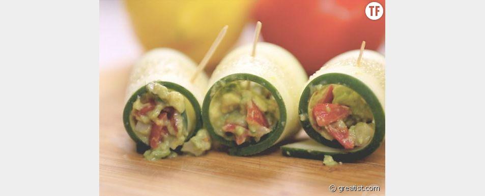 Des roulés au guacamole