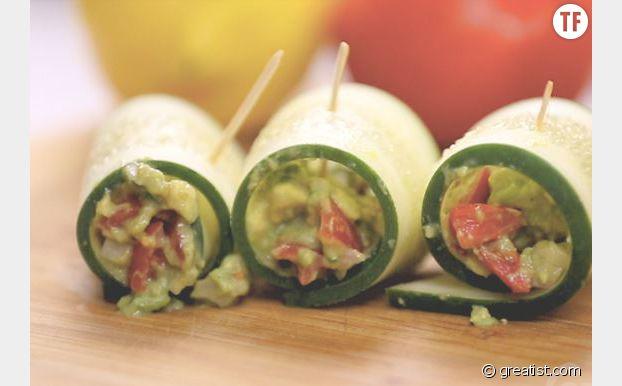 Roulés au guacamole