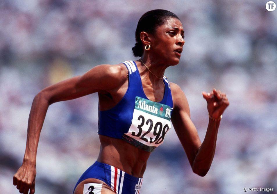 Marie-José Perec aux Jeux Olympiques d'Atlanta en 1996