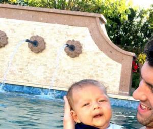 Michael Phelps, sa compagne Nicole Johnson et leur fils Boomer