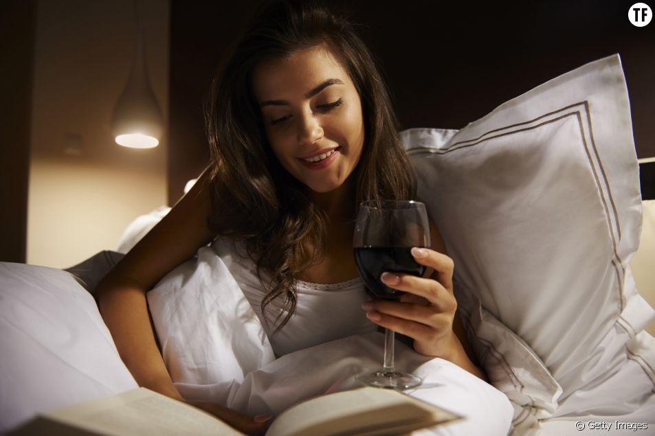 Un verre de vin et au lit !
