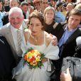 Thierry Olive et sa femme Annie, le jour de leur mariage en septembre 2012
