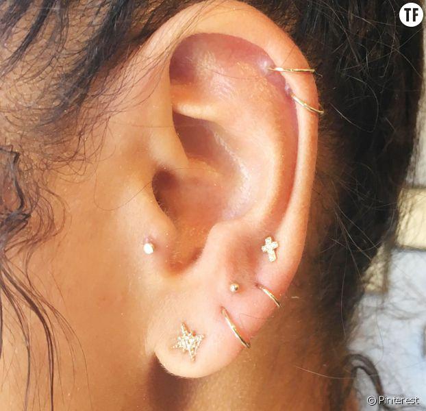 Préférence Les piercings constellation, la tendance boucles d'oreilles qu'on  DS92