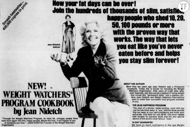 Une publicité Weight Watchers en 1973