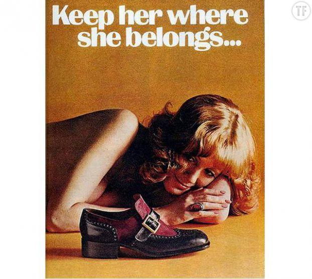 Une publicité des années 50 qui résume parfaitement les mentalités dans le mariage à cette époque
